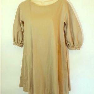 💖 PRADA 💖 Puff-Sleeve Beige Tunic/Dress sz 42